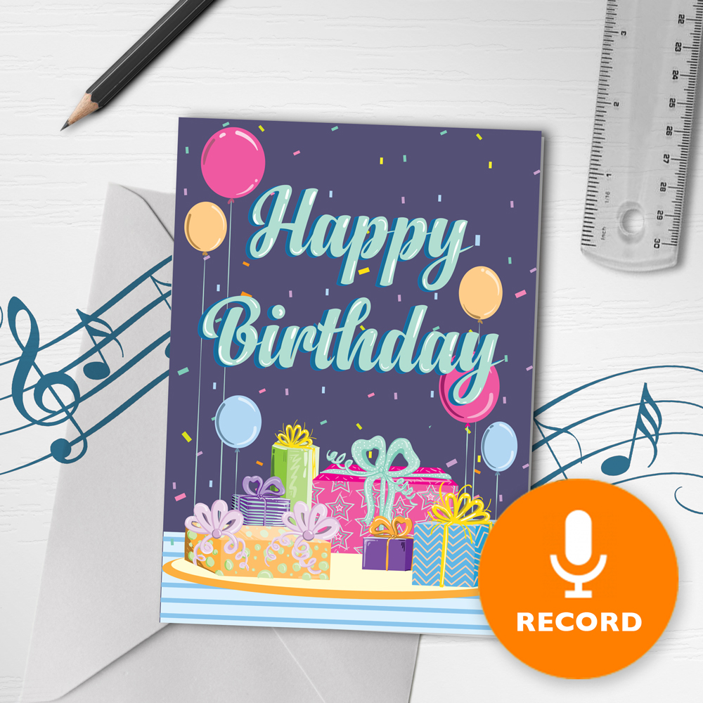 120s Happy Birthday Card With Music Musical Birthday Present
