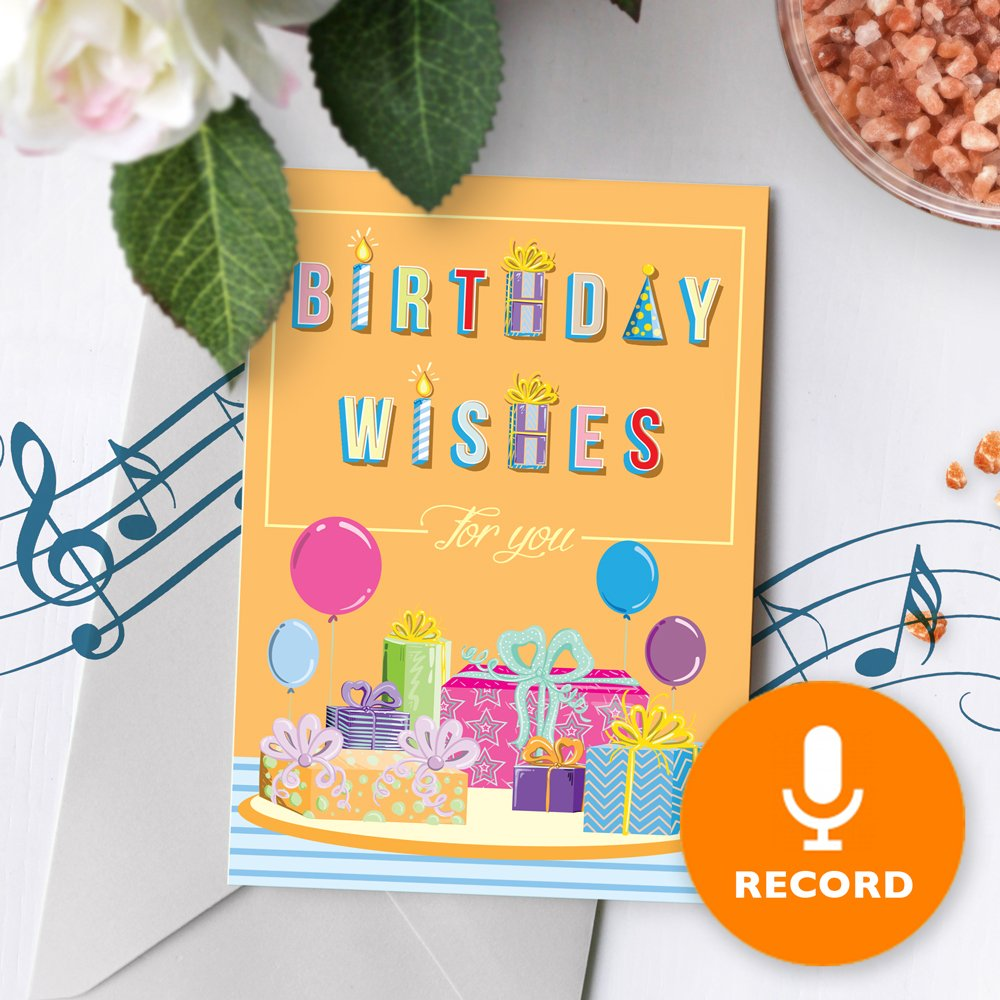 Details About 120s Birthday Wishes Greeting Card