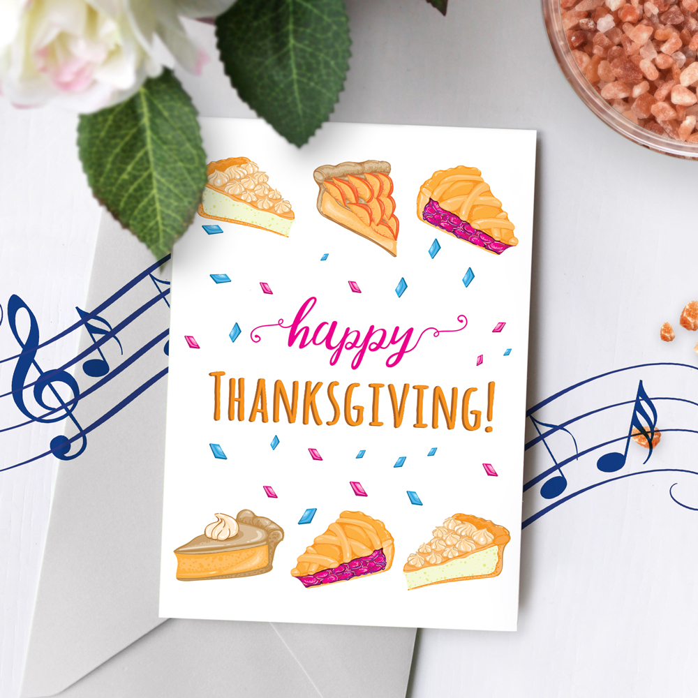 120s Thanksgiving Card Recordable Musical Greeting Card Talking