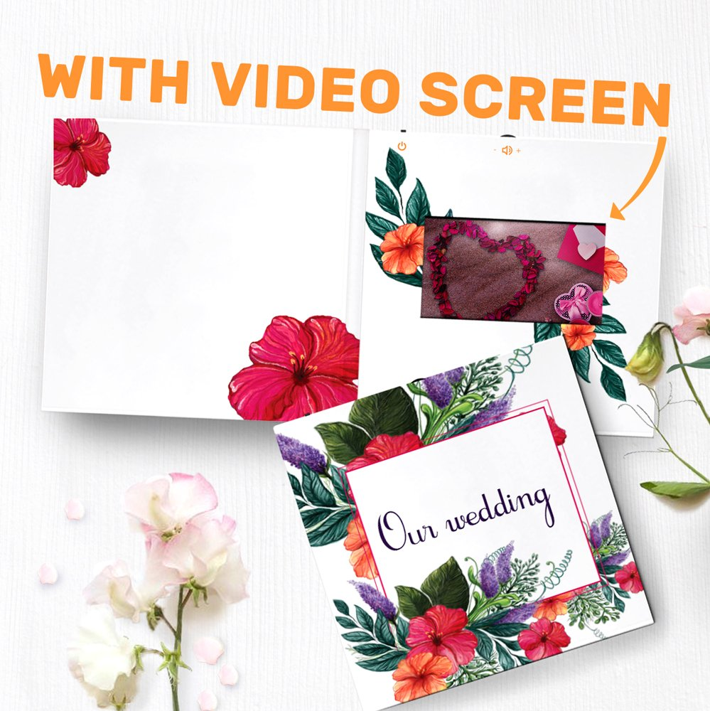 Wedding Album With Video Screen Video Greeting Card Our Wedding