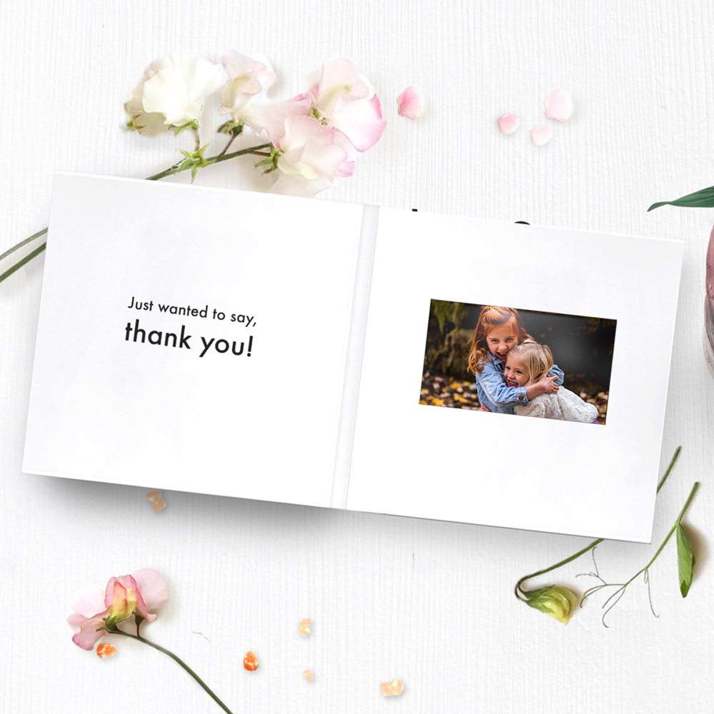 Recordable Video Greeting Card Thank You Greeting Card 43 Lcd