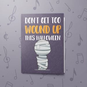 Wound Up – Musical Halloween Card
