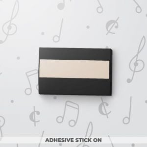 Blank Musical Gift Tag - Black