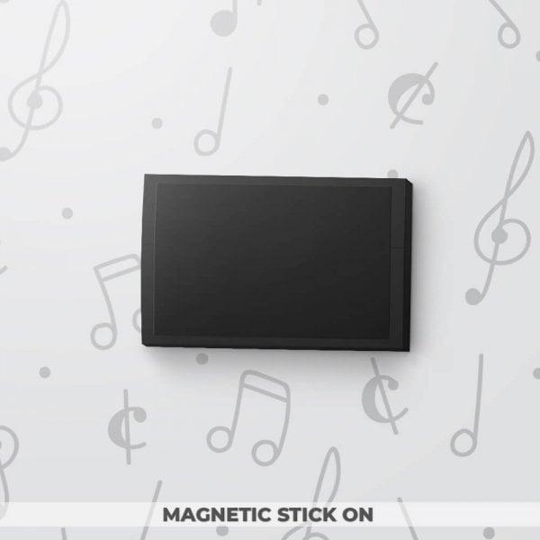 Blank Musical Gift Tag - Black
