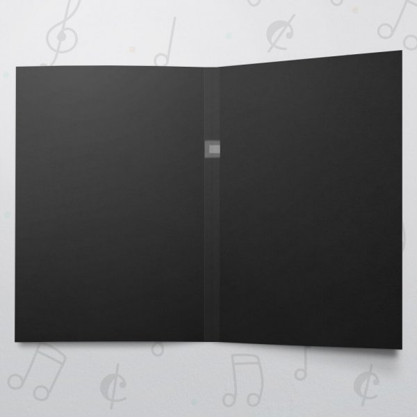 Blank Musical Greeting Card - Black - 5 x 7