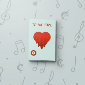 Melting Heart - Musical Gift Tag