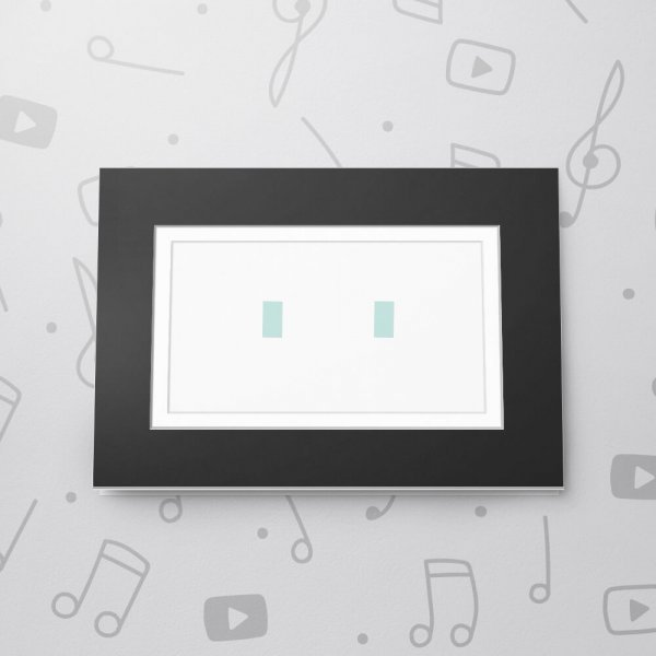 Blank Musical Photo Frame Card - 5 x 7