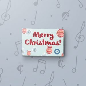 Christmas Ornaments - Musical Gift Tag