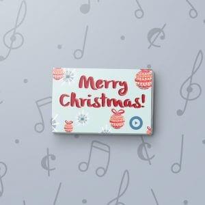 Christmas Ornaments - Musical Gift Tag