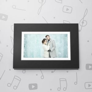 Blank Musical Photo Frame Card - Black - 5 x 7