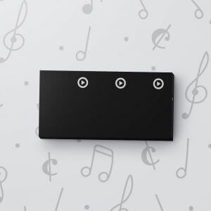 Blank 3 Button Sound Tag - Black