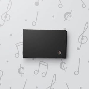 Blank Light Activated Gift Tag - Black