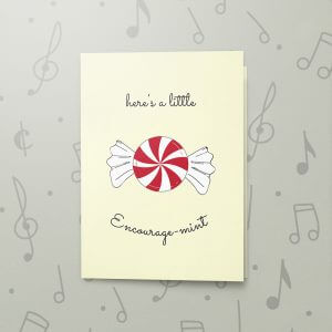 Encouragemint – Musical Sympathy Card
