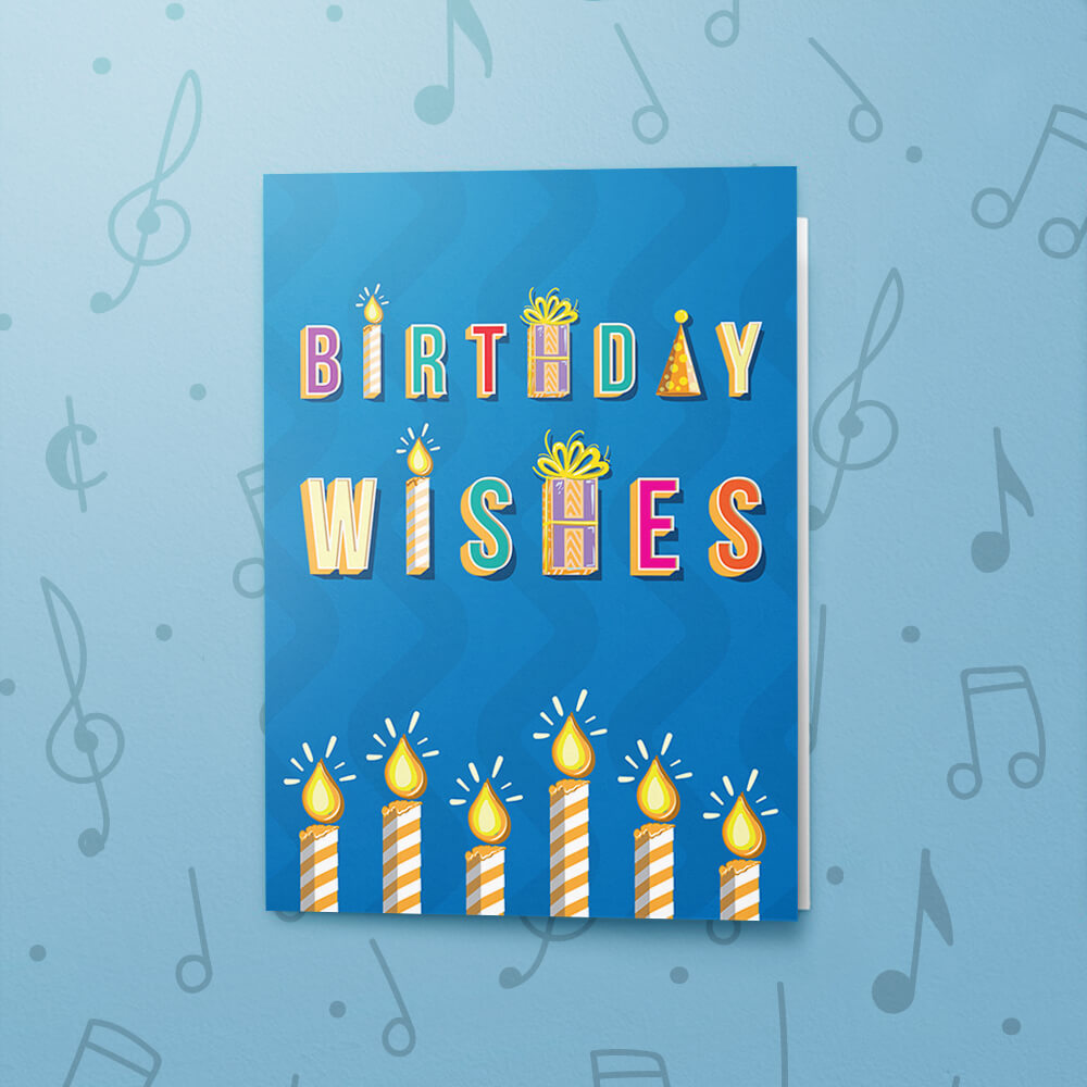 Birthday Wishes With Candles Musical Card