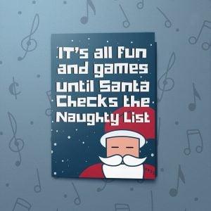 Naughty List – Musical Christmas Card
