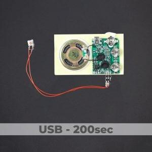 USB Programmed - Push Button Sound Module - 200 Sec