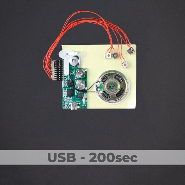 USB Programmed - 5 Button Sound Module - 200 Sec
