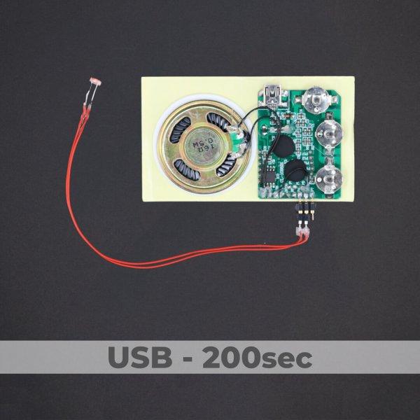 USB Programmed - Light Activated Sound Module - 200 Sec
