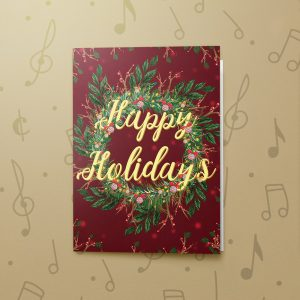 Happy Holidays Wreath – Musical Christmas Card