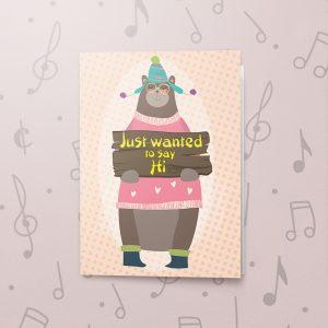 Saying Hi – Musical Just Because Card