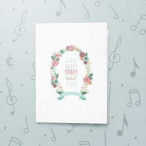 Happy Mother's Day (Wreath) – Musical Mother's Day Card