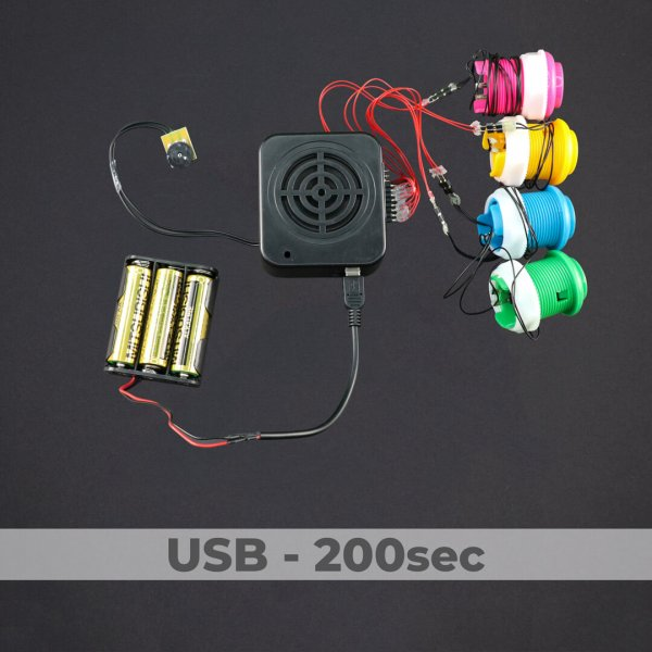 4 Button Sound Box - USB Programmed - 200 Sec