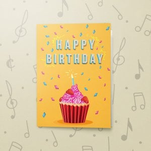 Happy Birthday Cupcake – Musical Birthday Card