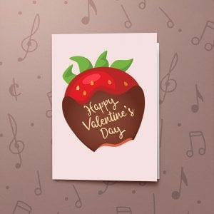 Valentine's Strawberry – Musical Valentines Card