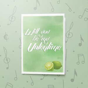 Valenlime – Musical Valentines Card