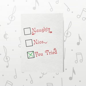 You Tried – Musical Christmas Card