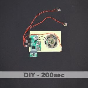 DIY Kit - Light Activated Sound Module + 2 Push Buttons - 200 Sec