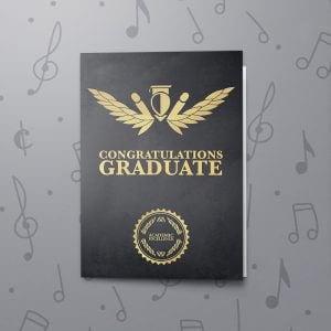 Congrats Graduate – Musical Graduation Card