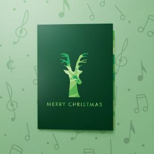 Christmas Dimensions Dark Green – Musical Christmas Card