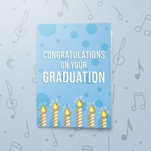 Congratulations on Graduating – Musical Graduation Card