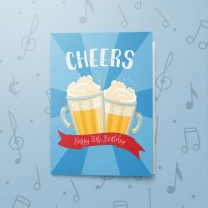 Cheers, 50th – Musical Birthday Card