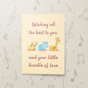 Bundle of Love – Musical Baby Card