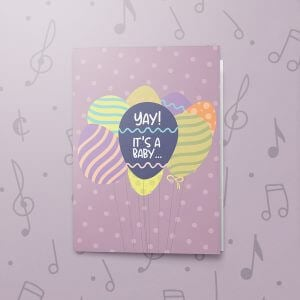 Yay a Girl (Reveal) – Musical Baby Card