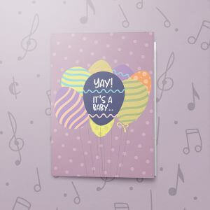 Yay a Boy (Reveal) – Musical Baby Card