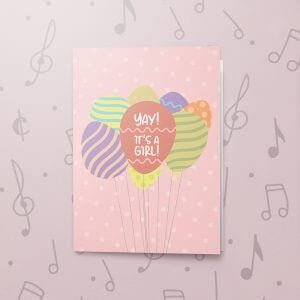 Yay a Girl – Musical Baby Card