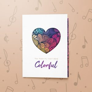 Colourful Heart – Musical Love Card
