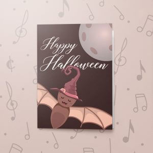 Bat Halloween – Musical Halloween Card