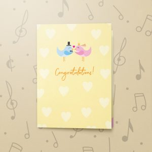 Congratulations Lovebirds – Musical Wedding Card