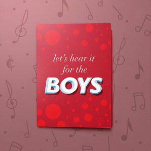 For the Boys – Musical LGBT Wedding Card