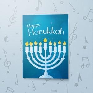 Menorah – Musical Hanukkah Card