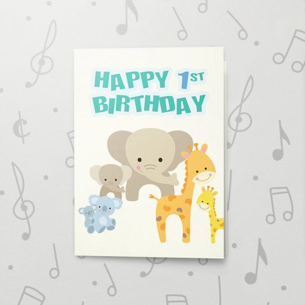 Swell Happy 1St Birthday Musical Birthday Card Bigdawgs Greetings Personalised Birthday Cards Cominlily Jamesorg
