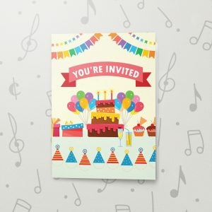 You're Invited (Kid) – Musical Birthday Card