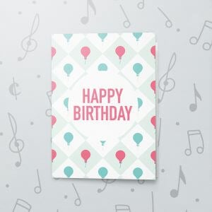Happy Birthday Balloon – Musical Birthday Card