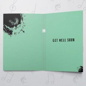 Zombie Virus Face – Musical Get Well Card