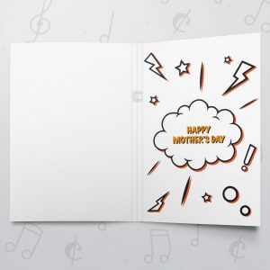 You are my superhero – Musical Mother's Day Card