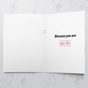 Copper & Tellurium – Musical Love Card